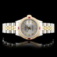 Rolex DateJust 18K/SS 1.00ct Diamond Ladies Watch