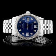 Rolex SS DateJust Men's 1.50ct Diamond Watch