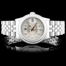 Rolex SS 31mm DateJust 1.50ct Diamond Wristwatch