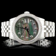 Rolex SS DateJust 1.50ct Diamond Gents Wristwatch