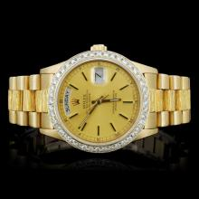 Rolex 18K YG Day-Date Diamond Gent's Watch