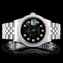 Rolex SS DateJust 1.00ctw Diamond Gents Wristwatch