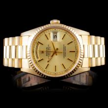Rolex 18K YG Day-Date Men's Watch