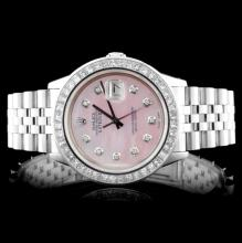 Rolex DateJust Men's 3.50ct Diamond Wristwatch