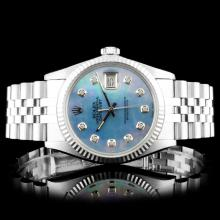 Rolex DateJust SS Diamond Wristwatch