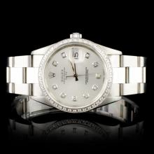 Rolex Date 1.50ct Diamond Wristwatch