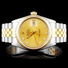 Rolex Two Tone DateJust Diamond Watch