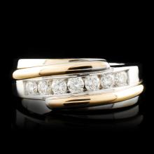 14K Gold 0.53ctw Diamond Ring