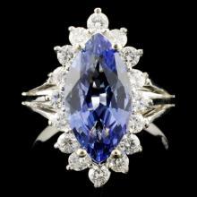 14K Gold 2.71ct Tanzanite & 0.67ctw Diamond Ring