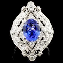 14K Gold 2.14ct Tanzanite & 0.85ctw Diamond Ring