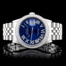 Rolex SS DateJust 1.50ctw Diamond Gents Wristwatch