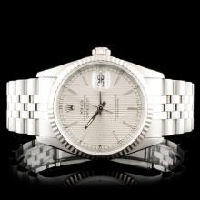 Rolex SS DateJust 16234 Tapestry Wristwatch