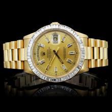 Rolex Day-Date Men's 3.50ct Diamond Wristwatch