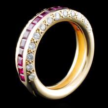 14K Gold 1.65ctw Ruby & 0.88ctw Diamond Ring