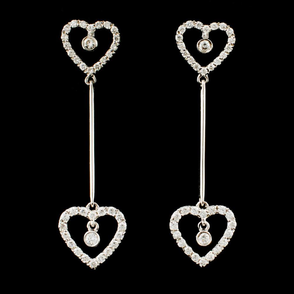 18K Gold 0.68ctw Diamond Earrings