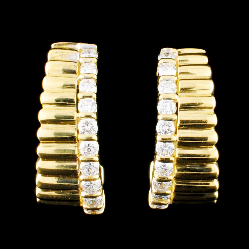 18K Gold 0.70ctw Diamond Earrings