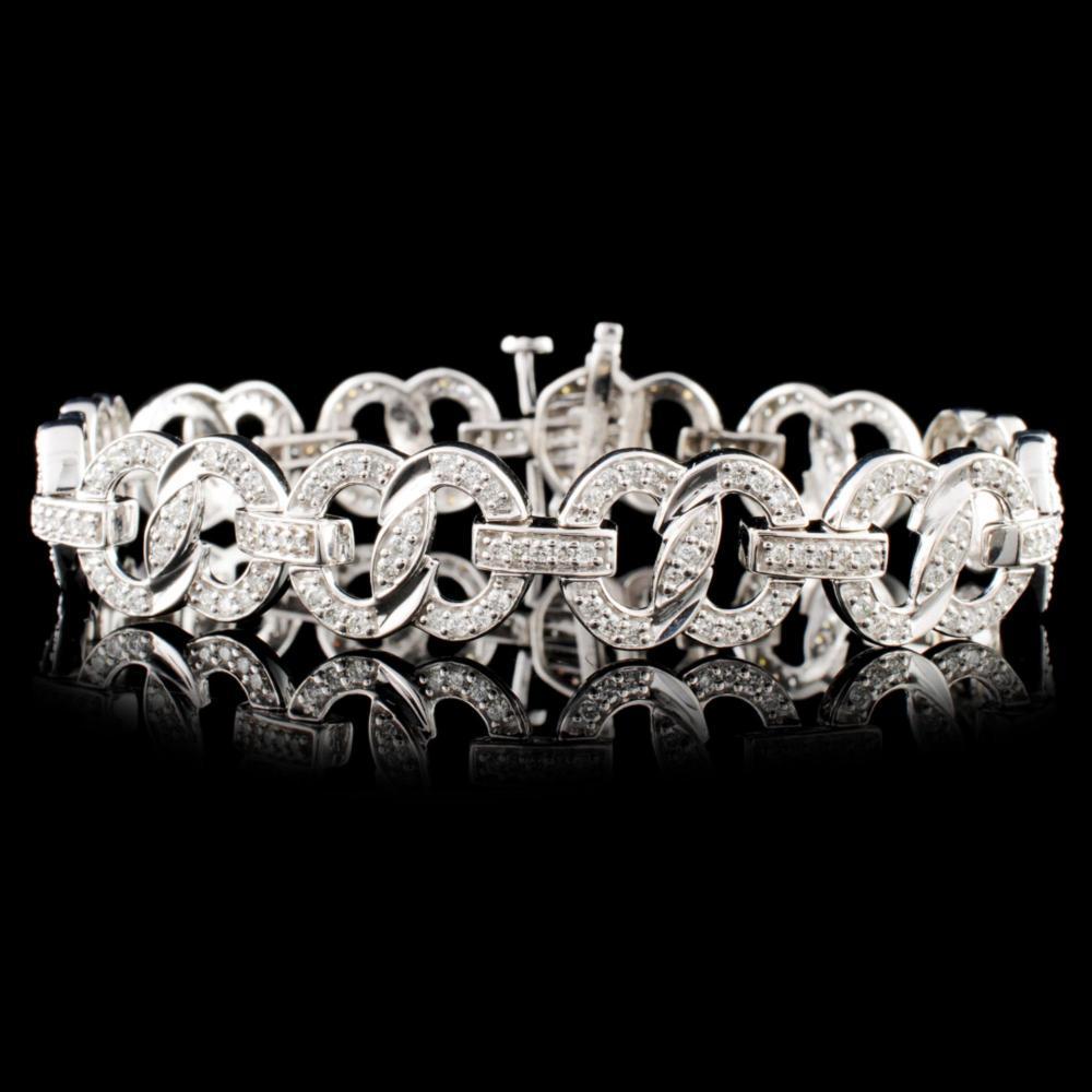 14K Gold 2.10ctw Diamond Bracelet