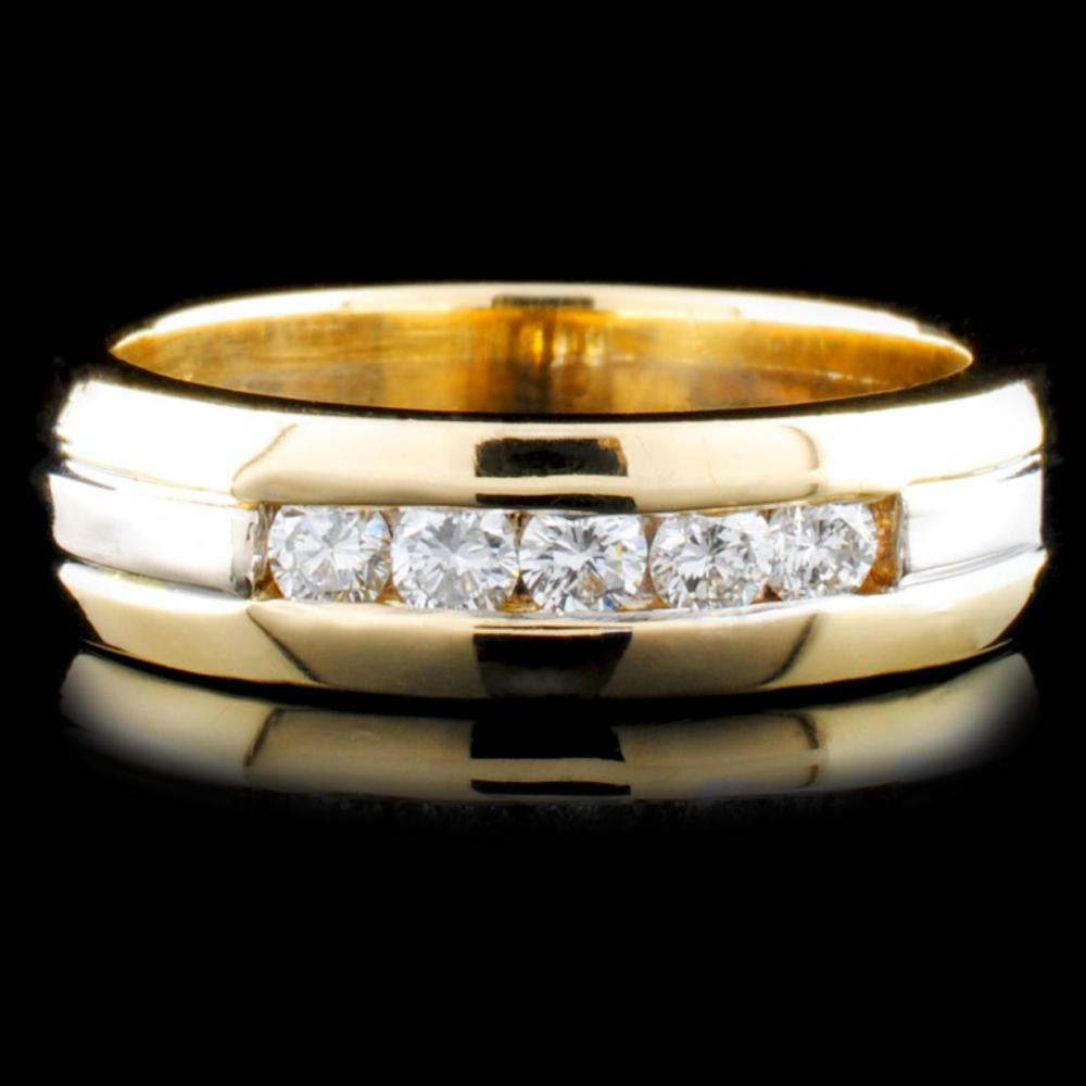 14K TT Gold 0.46ctw Diamond Ring