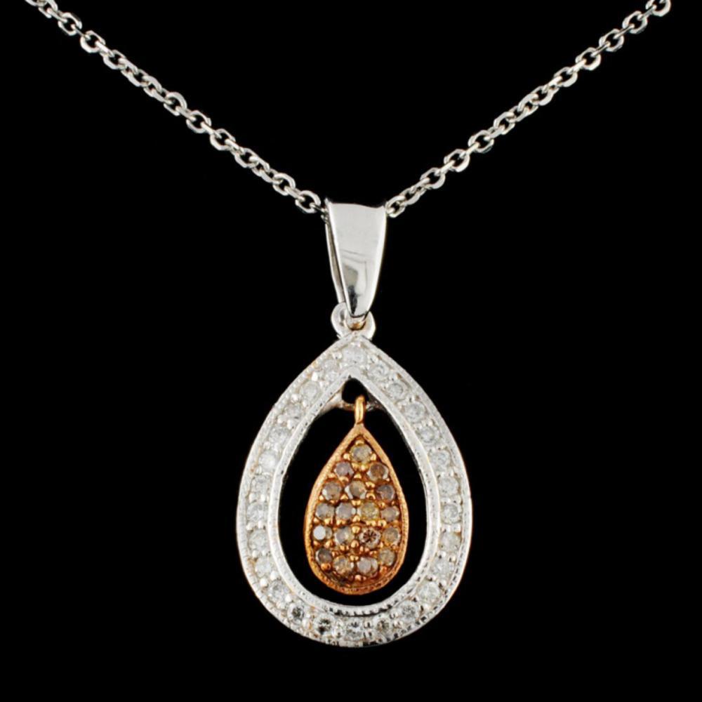 14K Gold 0.35ctw Fancy Diamond Pendant