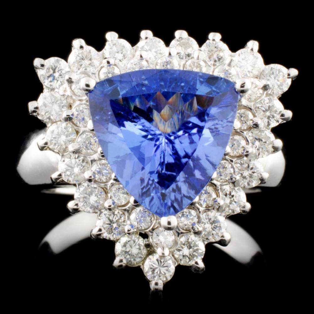 14K Gold 2.45ct Tanzanite & 2.45ctw Diamond Ring