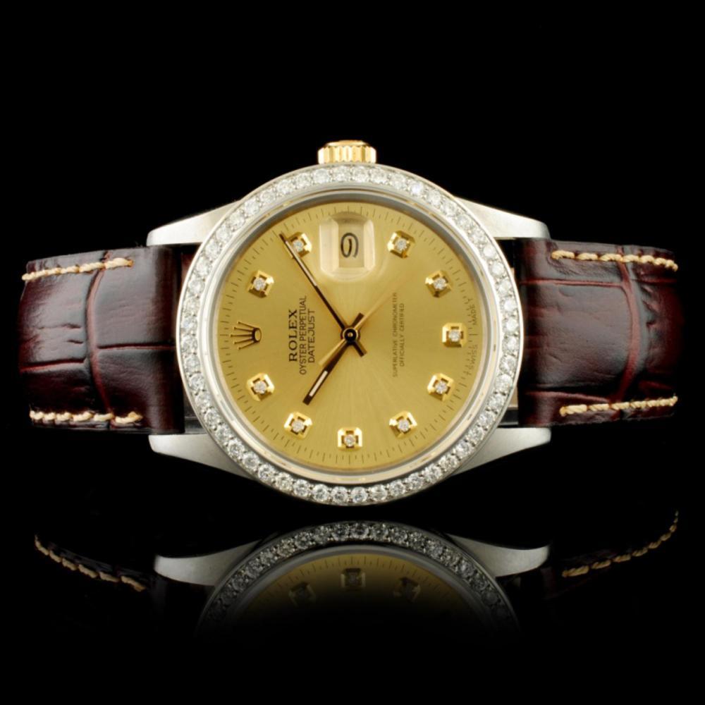Rolex DateJust YG/SS 1.35ct Diamond 36MM  Watch