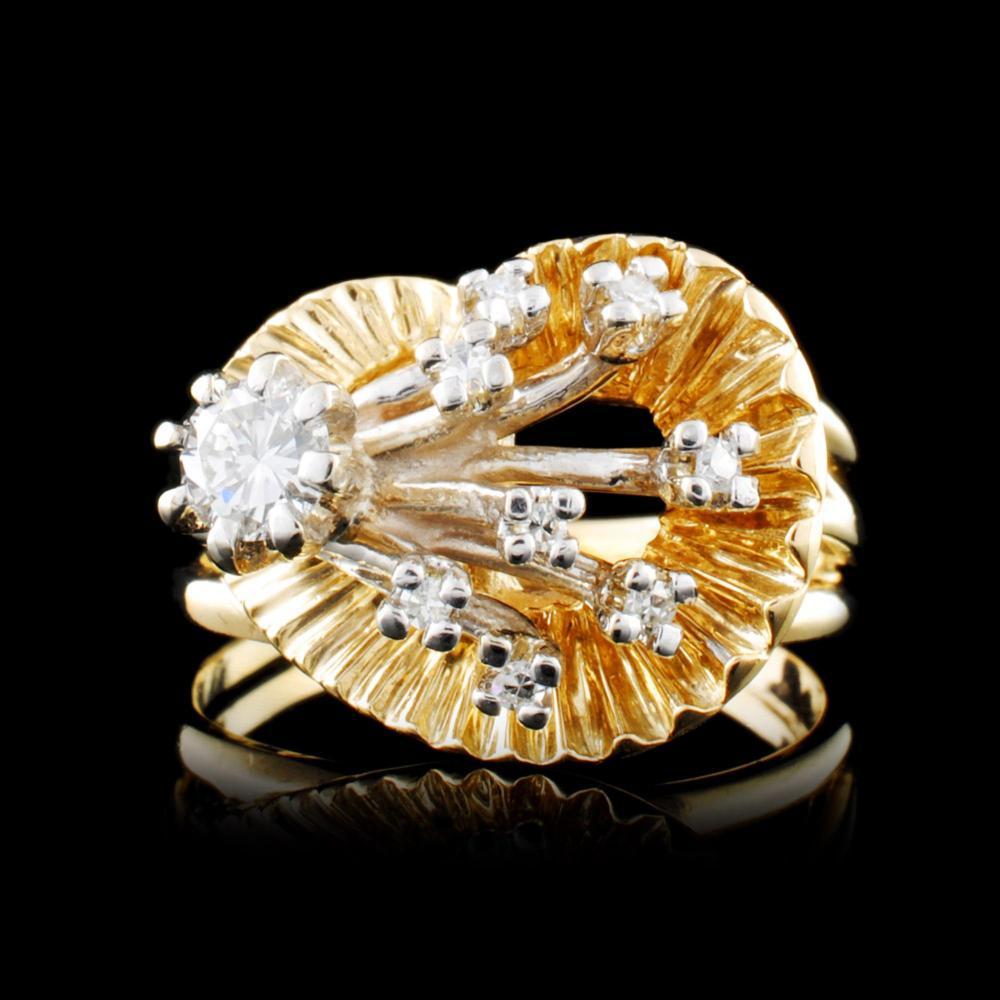 14K Gold 0.39ctw Diamond Ring