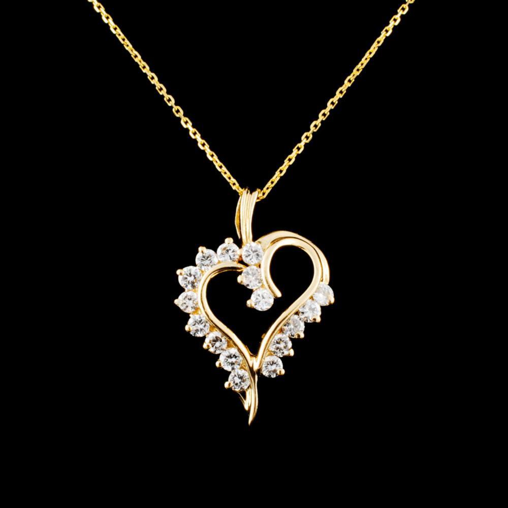 14K Gold 0.38ctw Diamond Pendant