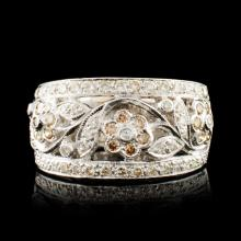 18K Gold 0.99ctw Diamond Ring