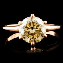 14K Gold 1.70ctw Solitaire Diamond Ring