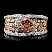 14K White Gold 3.08ct Fancy Color Diamond Ring
