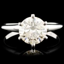 14K Gold 1.54ctw Solitaire Diamond Ring