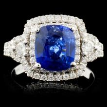 18K White Gold 2.13ct Sapphire & 0.79ct Diamond Ri