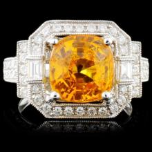 18K White Gold 2.23ct Sapphire & 1.43ct Diamond Ri