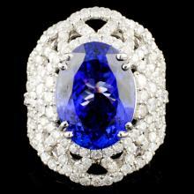 18K Gold 9.27ct Tanzanite & 2.87 Diamond Ring