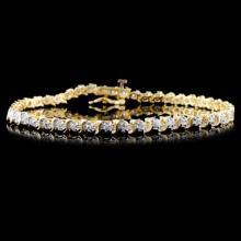 14K Yellow Gold 0.50ctw Diamond Bracelet