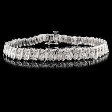14K White Gold 2.00ctw Diamond Bracelet