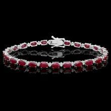 `14k Gold 14.50ct Ruby 0.55ct Diamond Bracelet