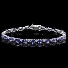 `14k Gold 10ct Tanzanite 0.50ct Diamond Bracelet
