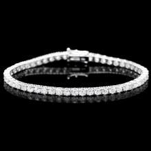^18k White Gold 7.50ct Diamond Bracelet