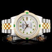 Rolex DateJust 18K/SS 1.50ct Diamond Wristwatch