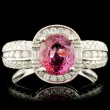 18K Gold 1.69ct Spinel & 0.47ctw Diamond Ring