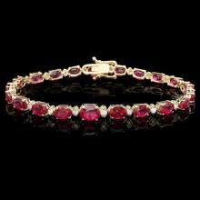 `14k Gold 17ct Ruby 0.75ct Diamond Bracelet