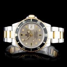 Rolex Two-Tone Submariner Diamond Men's Watch
