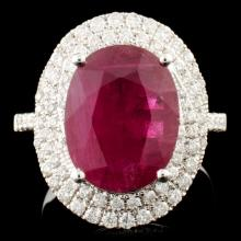 18K Gold 4.69ct Ruby & 0.64ctw Diamond Ring