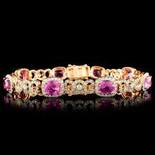 18K Gold 11.04ct Sapphire & 2.69ctw Diamond Bracel