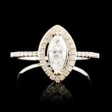 14K Gold 0.74ctw Diamond Ring