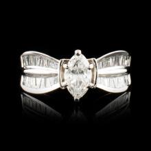 14K Gold 1.26ctw Diamond Ring