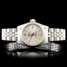 Rolex SS DateJust Ladies Wristwatch