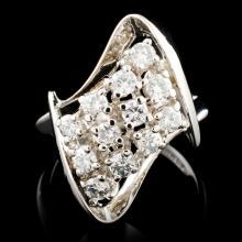 14K Gold 0.61ctw Diamond Ring