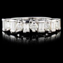 18K White Gold 0.86ctw Diamond Ring